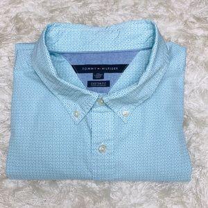 Tommy Hilfiger Micro Floral Custom Fit Shirt XXL